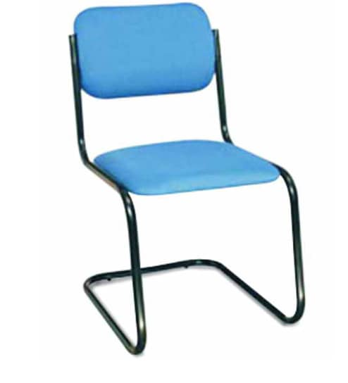 Cushioned Chair Without Armrest In Blue Colour By Godrej Interio