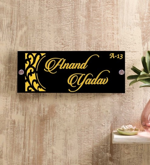 Acrylic Laser Cut Name Plate