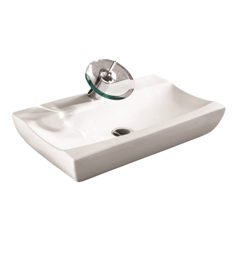 Curo Nexus White Ceramic 16.1 x 21.7 x 4.7 Inch Wash Basin