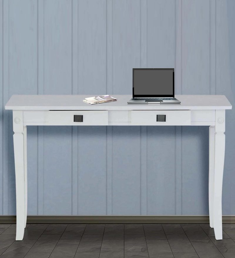 Study & Laptop Table in White Finish by Marco
