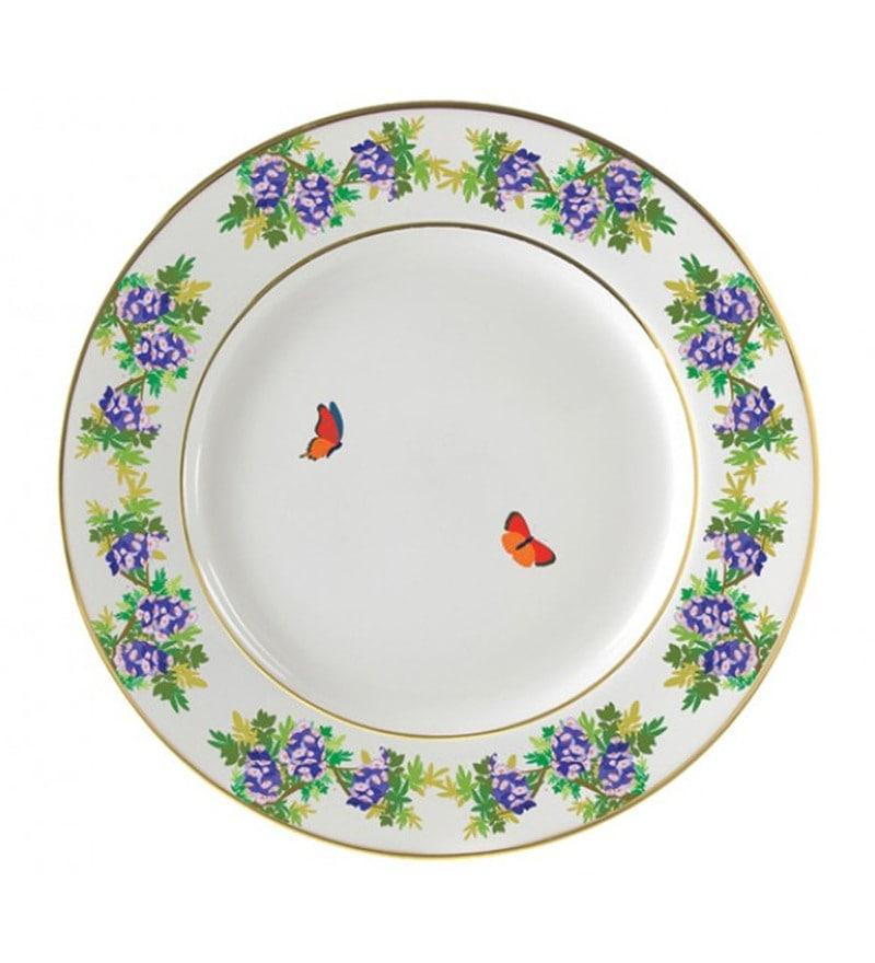 Cyahi Garden of Love Multicolour Porcelain Quarter Plate