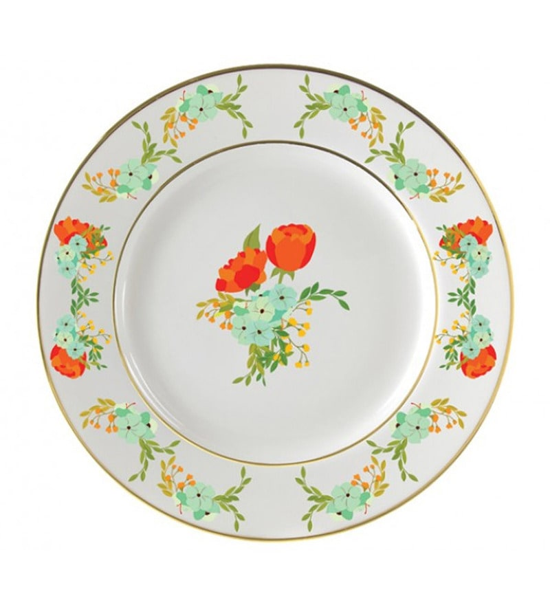 Cyahi Tulip Joy Multicolour Porcelain Quarter Plate