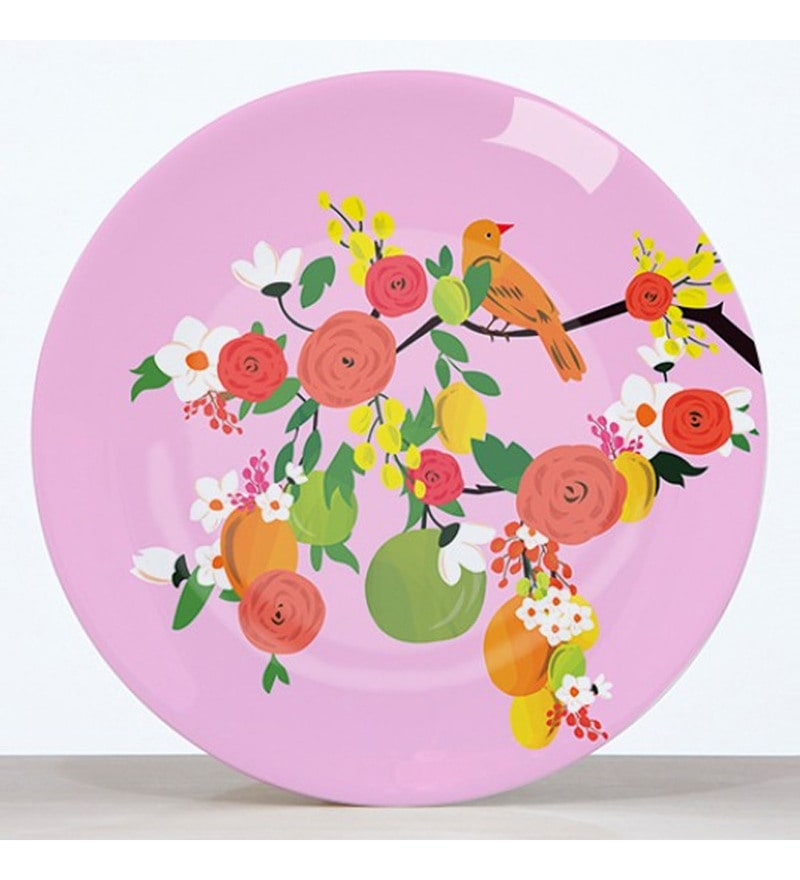 Cyahi Wondrous Beauty Multicolour Porcelain Quarter Plate