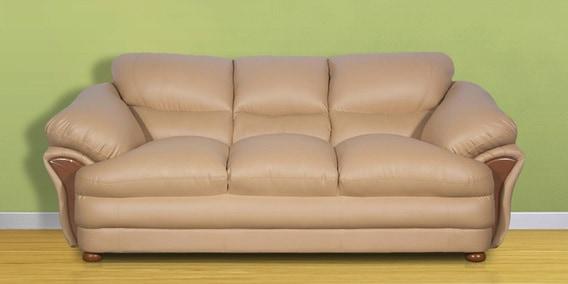 D Ventura Three Seater Sofa In Brown Finish By Rej Interio