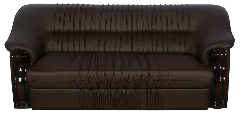 Buy D Lion Three Seater Sofa In Coffee Brown Finish By Godrej