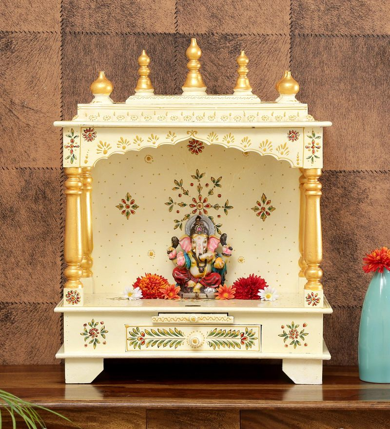 Multicolour Sheesham Wood Pooja Mandir Without Door By D D on
