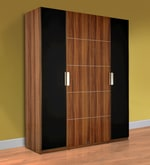 Daffodil Four Door Wardrobe in Brown Colour