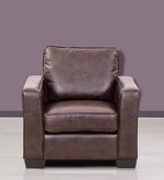 Daisy One Seater Sofa in Brown Colour