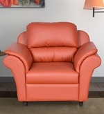 Dalvin One Seater Sofa in Peach Colour
