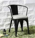 Danlou Metal Chair with Cushion in Black Colour