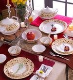 Autumn Bone China Dinner Set - Set of 34