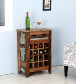 Dave Wine Rack in Distress Finish