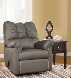 Darcy Salsa One Seater Manual Rocker Recliner Sofa In Grey Colour