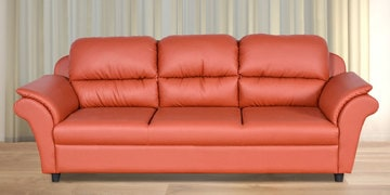 Dalvin Three Seater Sofa In Peach Colour By Cloud 9