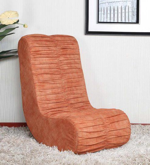 Fabulous Daisy Rocking Chair In Orange Colour By Parin Customarchery Wood Chair Design Ideas Customarcherynet