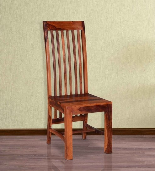 Dalton Solid Wood Dining Chair In Honey Oak Finish By Woodsworth