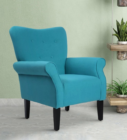 Incredible Davis Fabric Accent Cum Lounge Chair In Blue Colour By Lakdi Caraccident5 Cool Chair Designs And Ideas Caraccident5Info