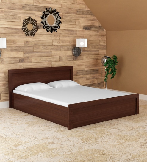 Buy Dazzle King Bed In Walnut Finish By Hometown Online Modern