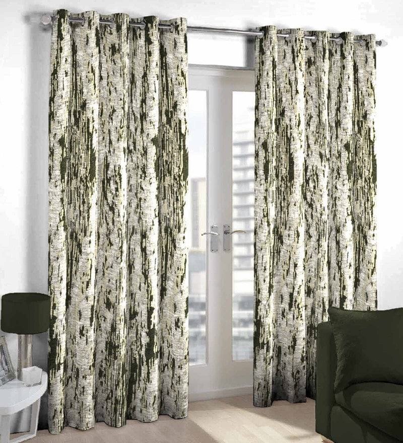 Dark green Poly Cotton Door Curtain by Skipper