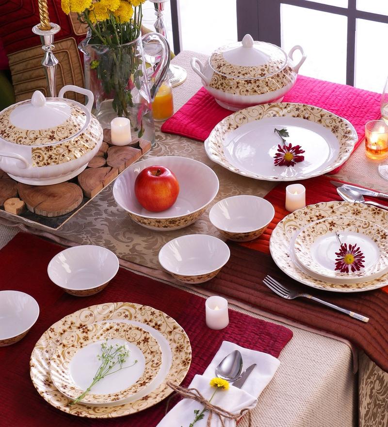 Autumn Bone China Dinner Set - Set of 22 by Data Ceramics