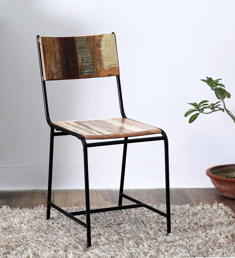 Dave Dining Chair in Distress Finish by Bohemiana