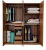 Daffodil Four Door Wardrobe in Brown Colour by Royal Oak