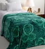 Daffodils Green Poly cotton Single Size Blanket