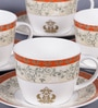 Dandy Lines Prince 180 ML Bone China Cups & Saucers - Set of 6