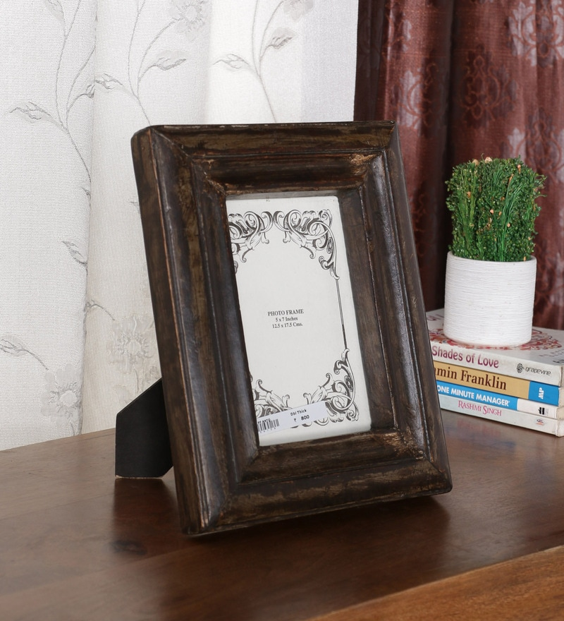 Wenge Solid Wood 91.5 x 11 Inch Photo Frame by Ethnic Clock Makers
