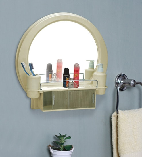 Dcor Designer Bathroom Mirror Cabinet - Ivory by Cipla Plast