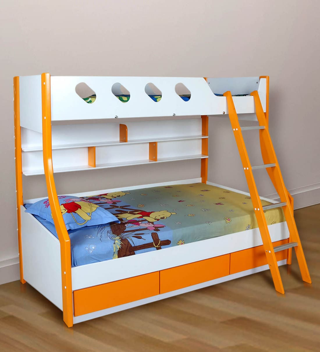 Buy Deccan Bunk Bed in Orange Colour by HomeTown Online - Standard Bunk  Beds - Bunk Beds - Kids Furniture - Pepperfry Product
