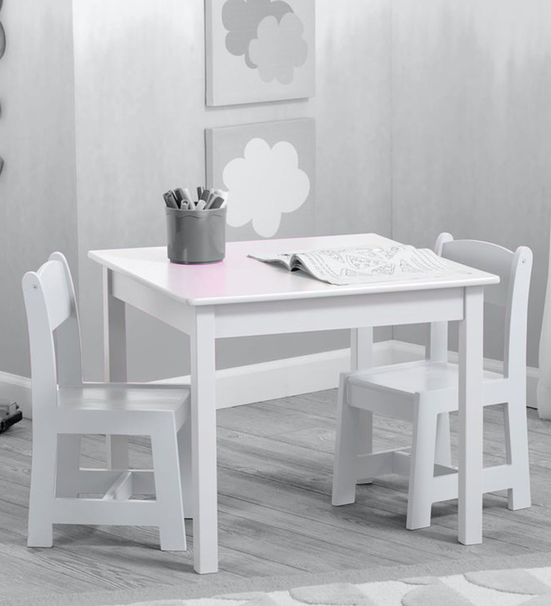 Buy Simple Study Table Chair In White By Delta Children Online Activity Tables Kids Furniture Kids Furniture Pepperfry Product