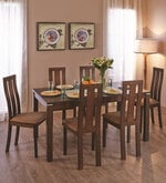 Delton Six Seater Dining Set in Brown Colour