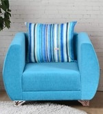 Derby One Seater Sofa in Sky Blue Colour