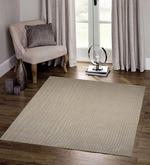 Beige & Camel Wool & Viscose 96 x 60 Inch Hand Tufted Waves Design Area Rug