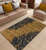 Black & Gold Wool & Viscose 96 x 60 Inch Hand Tufted Area Rug