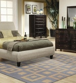 Blue & Gold Wool & Cotton 108 x 144 Inch Hand Tufted Box Design Carpet