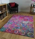 Multicolour Recycled Chindi Cotton 96 x 60 Inch Hand Tufted Chindi Design Carpet