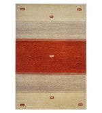 Multicolour Wool 90 x 60 Inch Contemporary Hand Knotted Area Rug