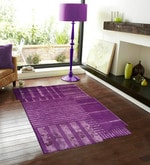 Purple Wool & Viscose 90 x 60 Inch Hand Tufted Modern Design Area Rug