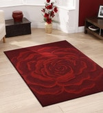 Red Wool 54 x 78 Inch Hand tufted Carpet