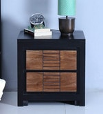 Deux Bed Side Table in Dual Tone Finish