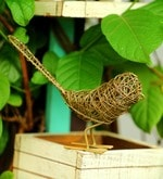 Gold Metal Wired Bird