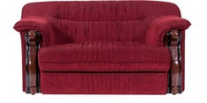 Define Two Seater Sofa in Maroon Colour