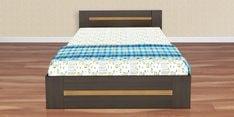 Denver King Size Bed with Drawer Storage Midnight Oak & Zebrano Finish