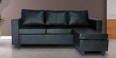 Devise Modular LHS Lounger Sofa in Black Colour