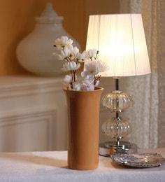 Decardo Yellow Ceramic Yellow Glazed Flower Vase