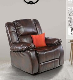 Delight One Seater Recliner In Brown Colour By Royal Oak