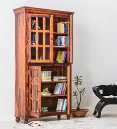 Denison Book Case In Honey Oak Finish By Amberville