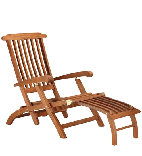 Deck Recliner Teak Wood By Style